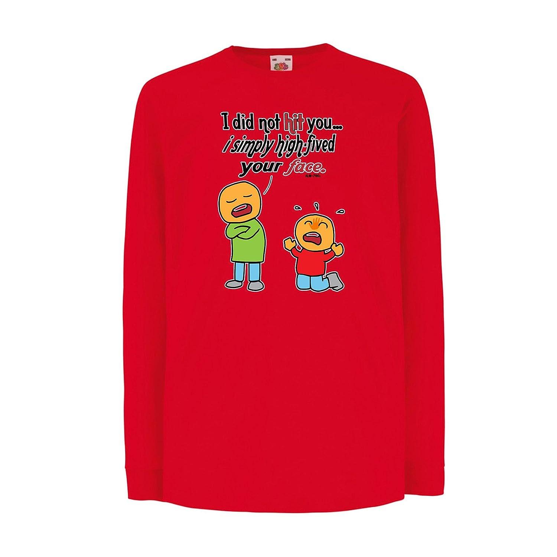 StarliteFunnyShirts Kinder t-Shirt High Five Your Face lustige ...
