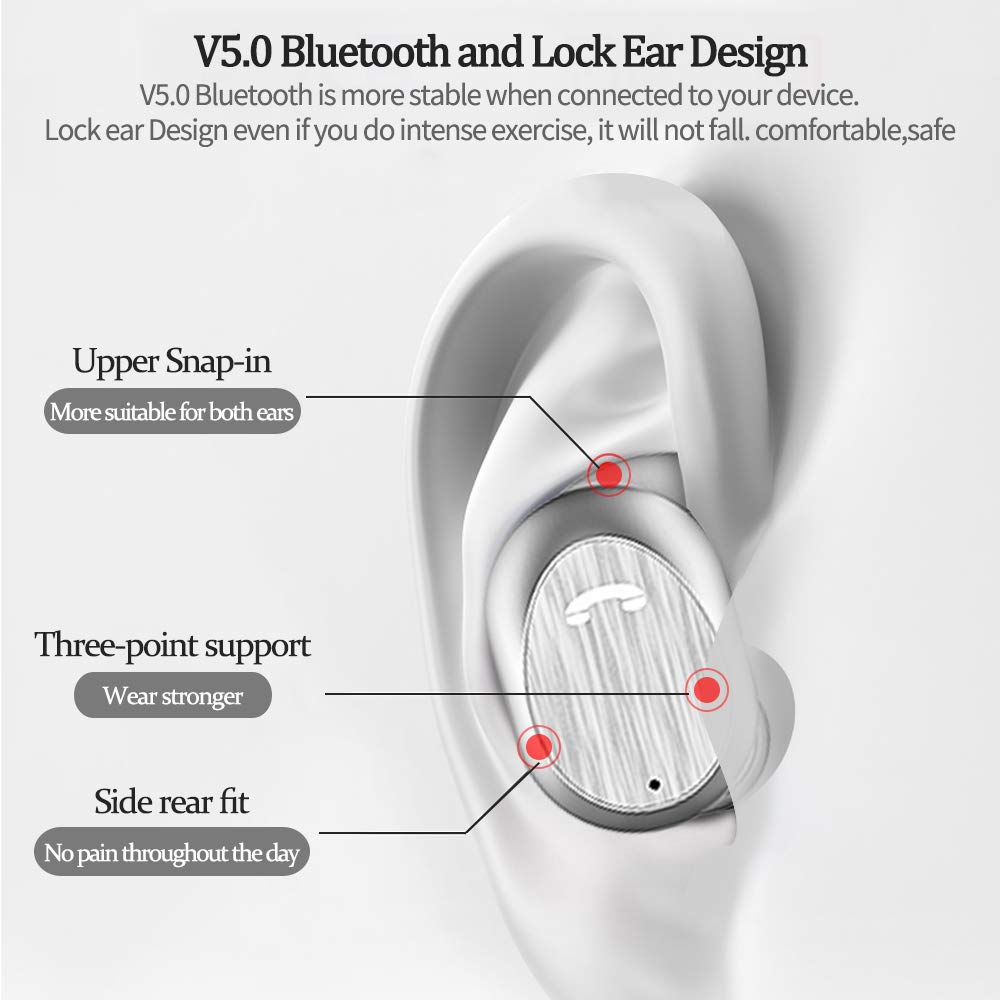 Amazon.com: Lifegoo TWS V5.0 Bluetooth True Wireless Earbuds Noise Cancelling Headphones,HD Stereo Deep Bass Earphones Running,Both Built-in Mic for Calling ...