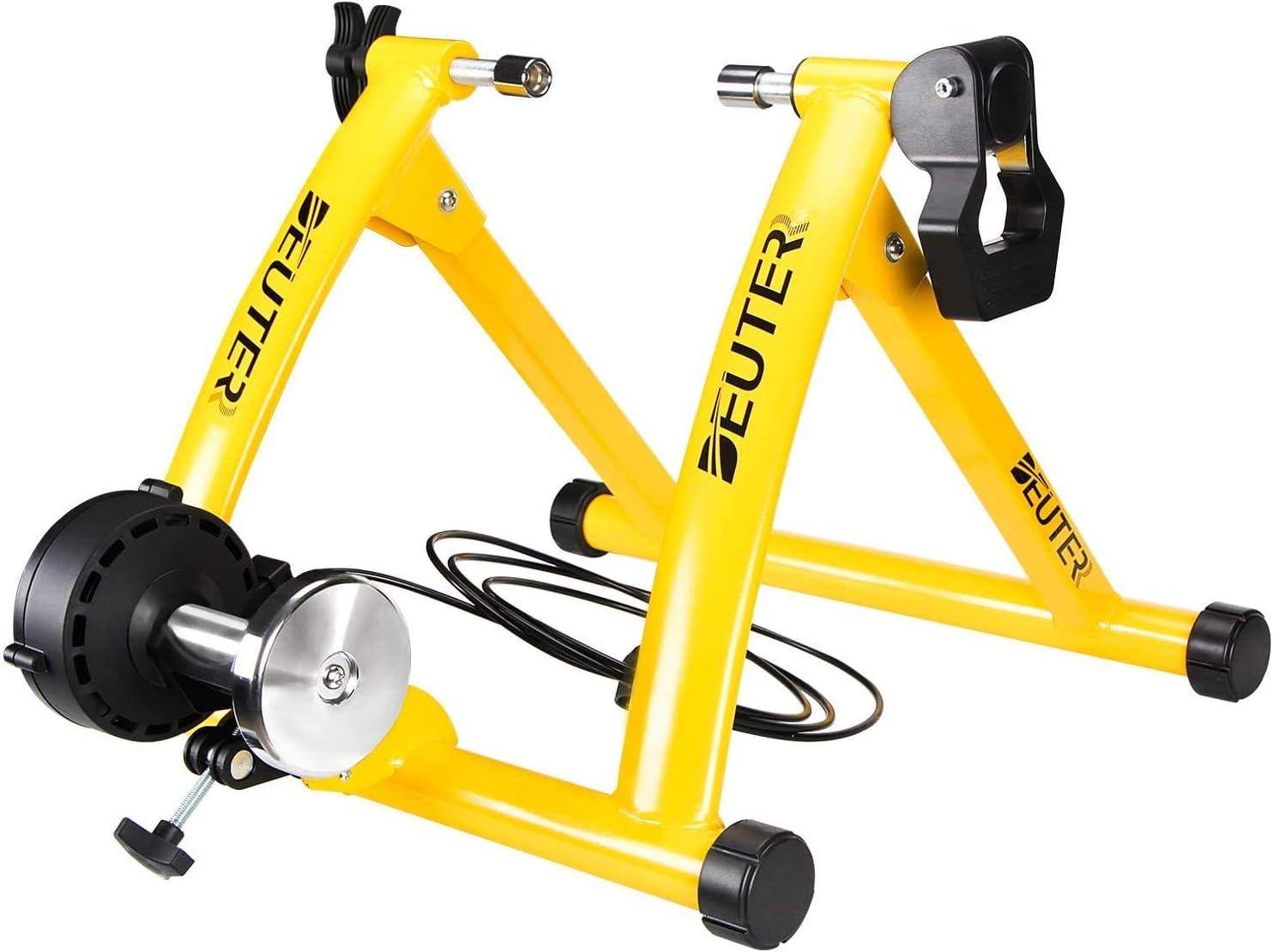 Deuter - Soporte magnético para bicicleta para montar en interiores, portátil, de liberación rápida y bloque de elevación de rueda delantera incluido