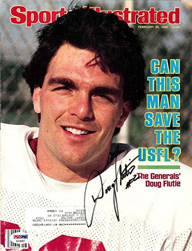 Doug Flutie Autographed Sports Illustrated Cover New Jersey Generals AA36907 PSA/DNA Certified Autographed College Magazines