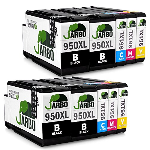 JARBO 2Set+2Black Compatible Ink Cartridges Replacement f...