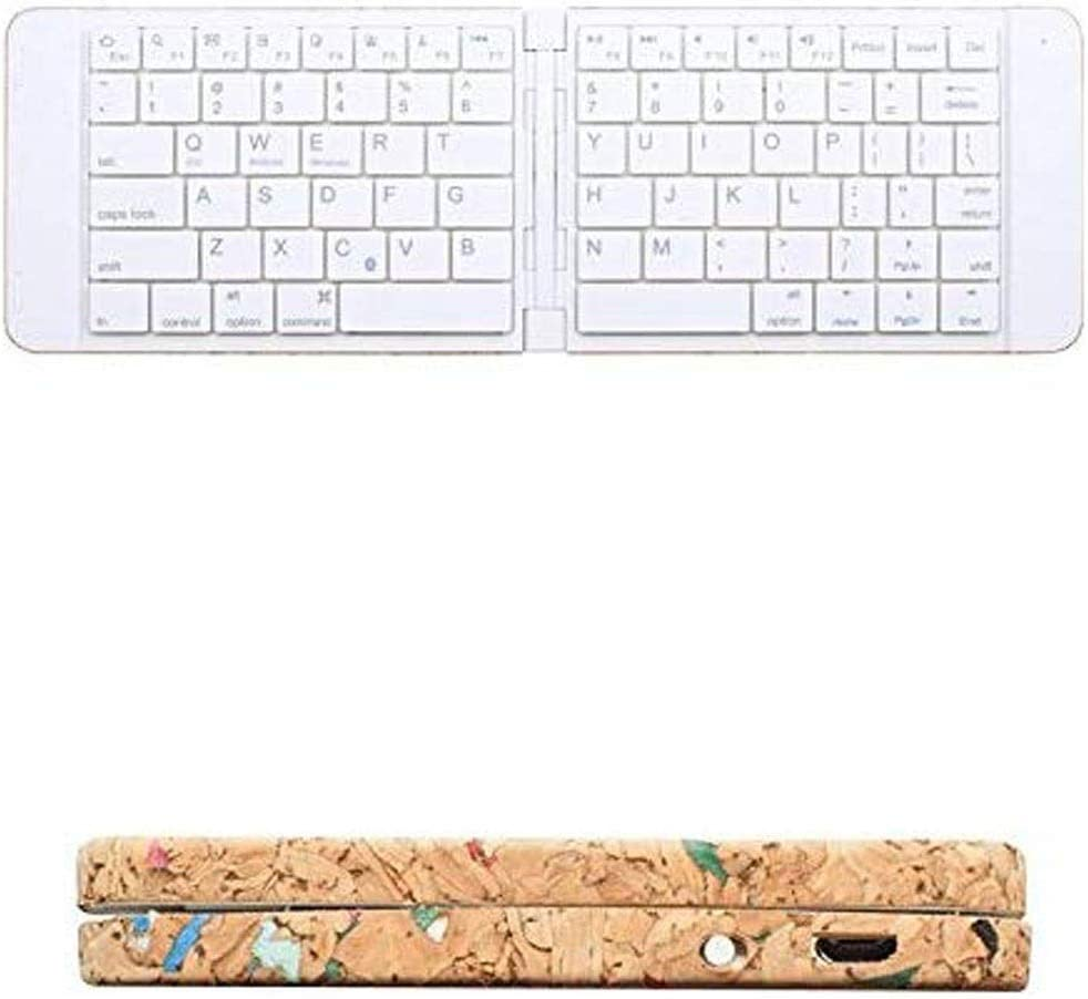 LMDH Foldable Bluetooth Keyboard Ultra Slim Foldable Keyboard Rechargeable Pocket Sized Keyboard for All Laptop Tablet Smartphone and More