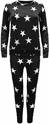 Details about  /Womens New Star Print Ladies Bottoms Waistband Tracksuit Jogging Joggers Pants