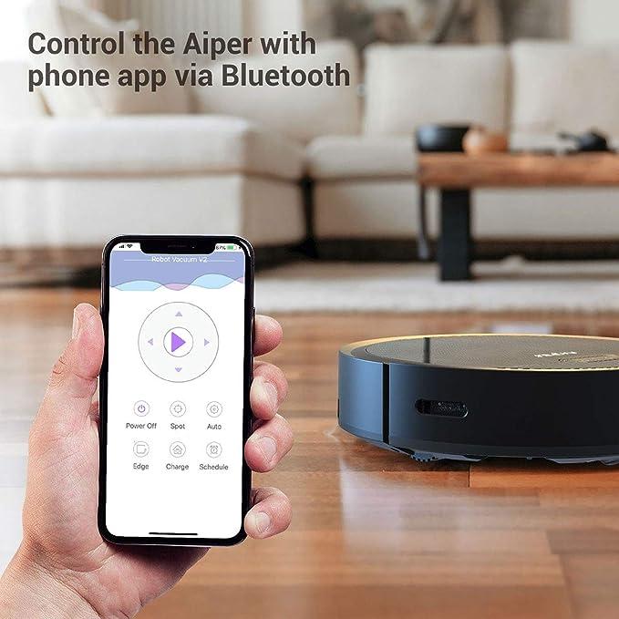 Aiper V2 Robot aspirador con control de aplicación, aspirador ...