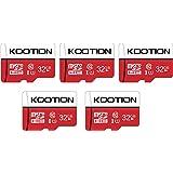 KOOTION 5 X 32GB Micro SD Card Class 10 Micro SDHC Card 32GB TF Card High-Speed Micro SD Cards 5 Pack Memory Card UHS-1, C10,