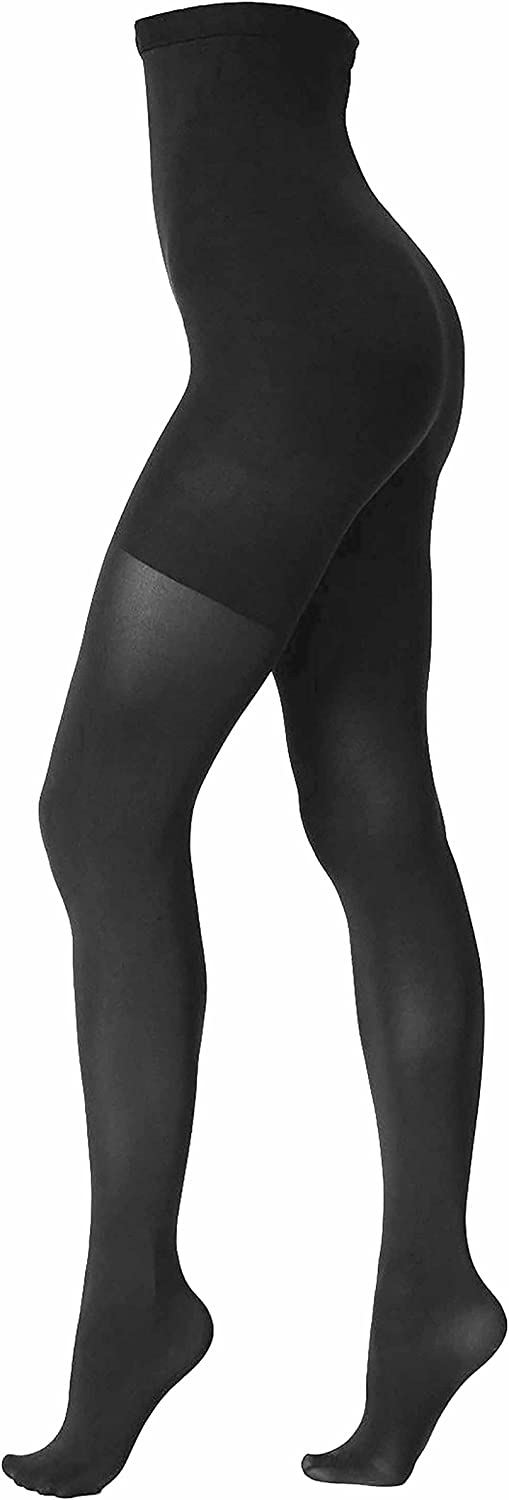 Spanx Stand Out Womens High-Waisted Mid-Thigh Shaping Sheers Backdrop Black E