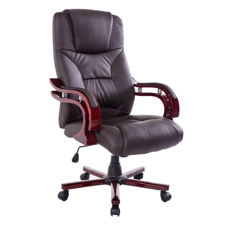 HOMCOM Deluxe High Back Executive Office Chair Seat Swivel Ergonomic Computer Desk Chair Home Furniture Black 921-015BK