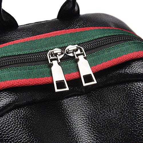 Mefly Handtasche Handtasche Neu Neue Koreanischer Mode Farbe Pu Große Kapazität Studenten Reisen black