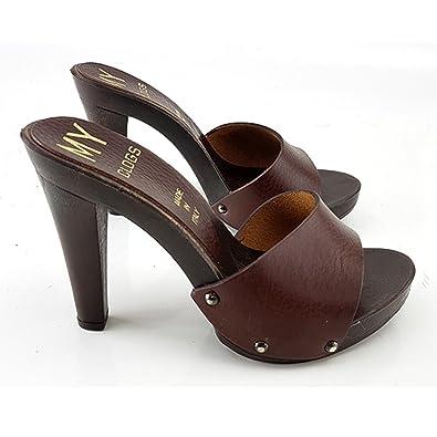 meilleur pas cher 4b3a5 400d3 kiara shoes Sabot Cuir Femme - MY31 (38): Amazon.fr ...