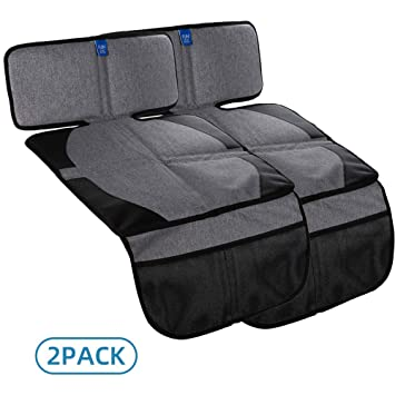 Auto Seat Cover Mat for Under Carseat with Thickest Padding to Protect Leather /& Fabric Upholstery Funbliss Car Seat Protector for Baby Child Car Seats Waterproof and Dirt Resistant 1 Pack