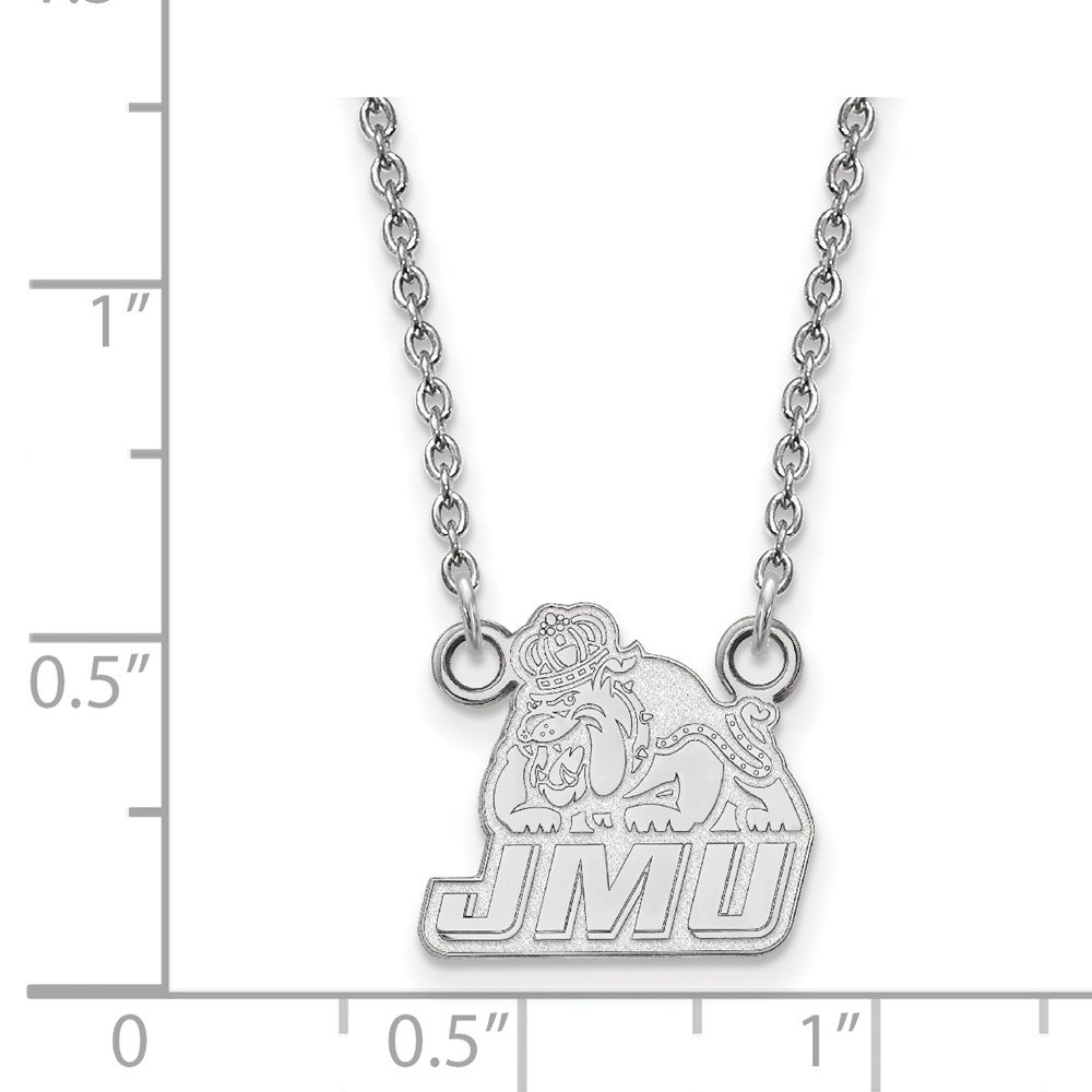 15mm Solid 925 Sterling Silver James Madison University Small Pendant with Necklace