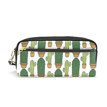 Estuche para estudiantes, diseño de cactus, color verde ...