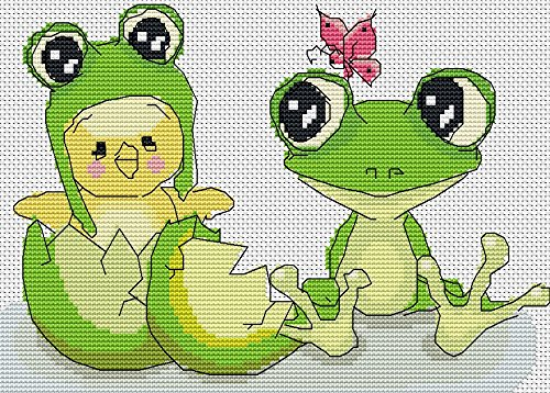 Crossdecor Stamped Cross Stitch Kits Beginners Needlecrafts Accurate Pre-printed Pattern 11 Count, Funny (Welcome Counted Cross Stitch Pattern)