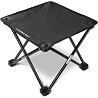 Forbidden Road Camping Stool Folding Chairs Outdoor Fold Up Chairs Four Legs Portable Collapsible Chair for Hiking Fishing Travelling Outdoor Stool Lightweight Sturdy Chair(Red/Blue/Green/Black)