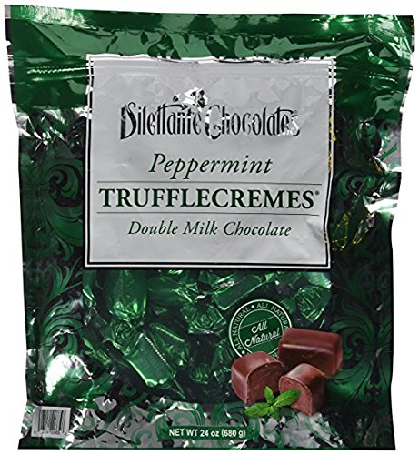 Chocolate Creme Mint (Peppermint Double Milk Chocolate Truffle Cremes - Dilettante Value 2Pack ( 24oz Each ))