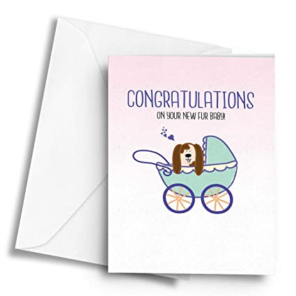 Felicitaciones por tu nuevo bebé de pelo! (Dog) - Tarjeta de ...