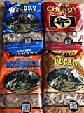 Western BBQ Smoking Wood Chips Variety Pack Bundle (4) Cherry, Hickory, Mesquite and Pecan Flavors