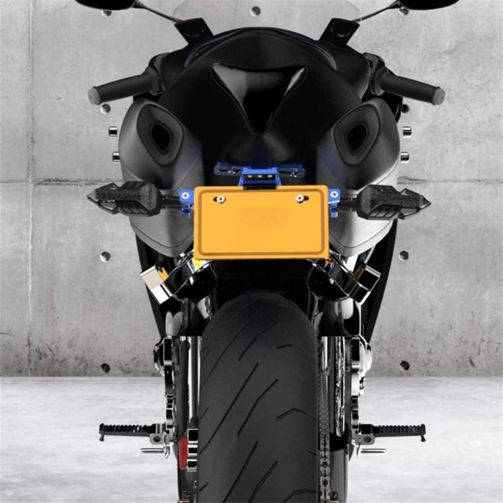 LED Moto Porte Plaque dimmatriculation Plaque Support Moto Support Cadre for FZ6 FZ1 TRK 502 TNT 125 Xmax 125 Color : Black