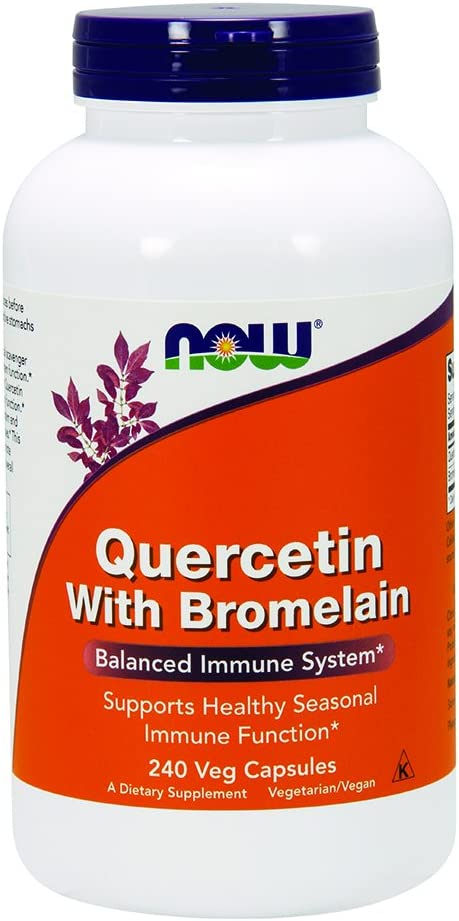 Now Quercetin with Bromelain,240 Veg Capsules