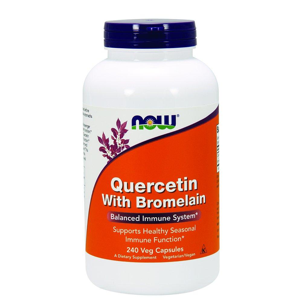 Now Quercetin with Bromelain,240 Veg Capsules