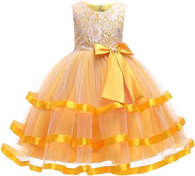 Amazon.com: LJW Vestido para niña de 3 a 6 años de princesa ...