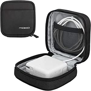 MoKo Protective Case for MacBook Power Adapter, Anti-Scratch Organizer Bag Small Storage Travel Pouch for Laptop MacBook Charger, USB Cables, USB Drives, Earphones, Magic Mouse, AirPods - Black
