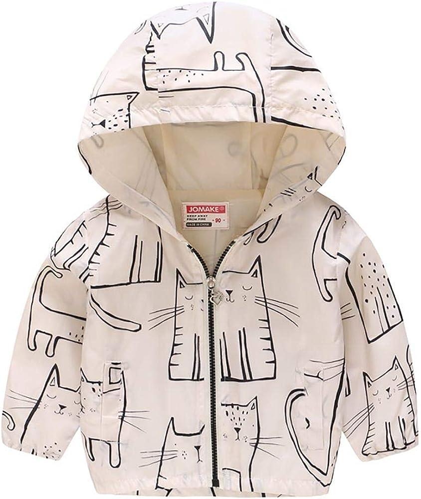 Echinodon Kinder Leichte Jacke mit Kapuze Jungen M/ädchen Windjacke Sweatjacke Fr/ühling Sommer Herbst