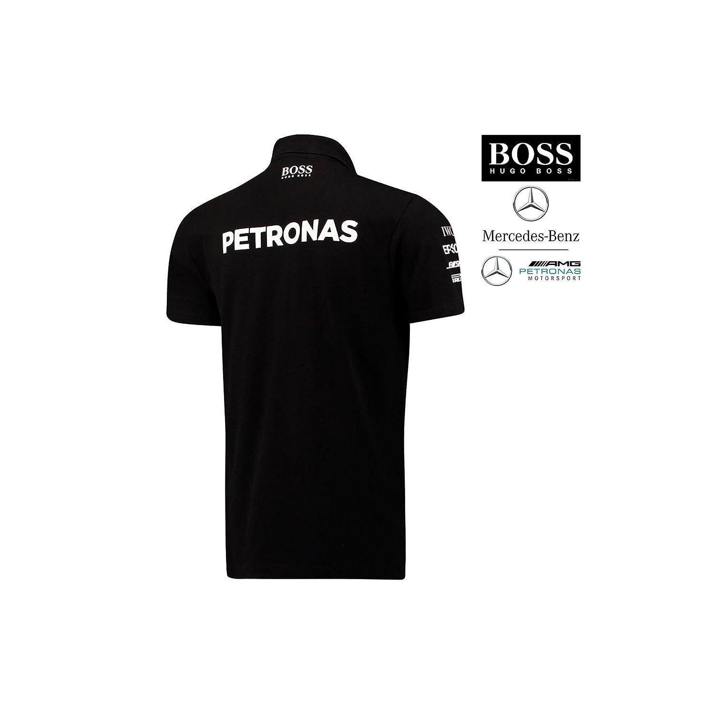 ad5b5e9ae Mercedes AMG ® F1 Polo Sponsor Hugo Boss - Taille S (Small) - 141171042-100  - Edition Limitée Licence Mercedes - Distributeur AP - S -: Amazon.fr:  Vêtements ...
