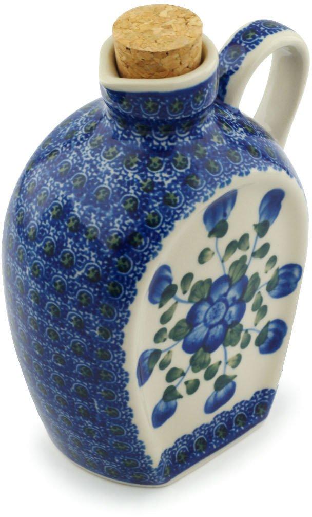 ポーランド陶器ボトル19 ozブルーPoppies Made by Ceramika Artystyczna B072KLBS5X