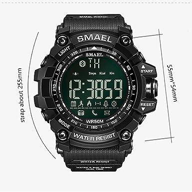 SMAEL Reloj Deportivo Digital Reloj de Pulsera Movimiento de Cuarzo Estilo Militar Resistente al Agua Smartwatches