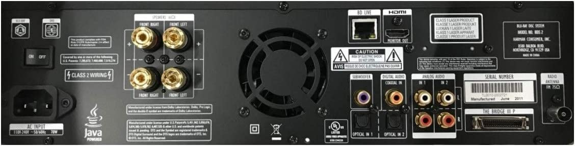 Harman//Kardon Harman Kardon BDS 2SO  2.1 Blu-ray Player Home Theater Receiver
