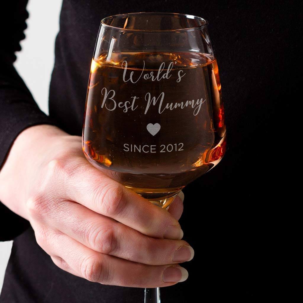 Custom Name Mom/'s Favorite Wine Glass Mom Wine Glass Mom Birthday Gift Mom Christmas Gift Funny Wine Glass for Mom Mom Gift