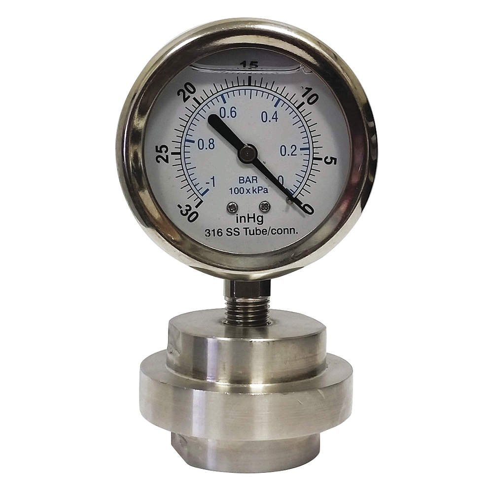 True Temper/Ames - KC301L2530/0/DSM3512LP - Vacuum Gauge, 30 Hg Vac to 0 Range, 1/2 FNPT, 1.60% Gauge Accuracy