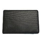 Pet Champion PTCTHOLEM 2-Layer Sifting Easy Clean Waffle Pattern Litter Mat, Black, Large