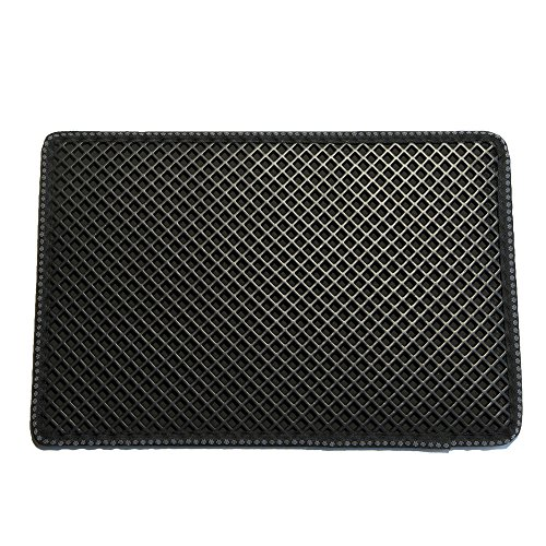 Pet Champion PTCTHOLEM 2-Layer Sifting Easy Clean Waffle Pattern Litter Mat, Black, Large