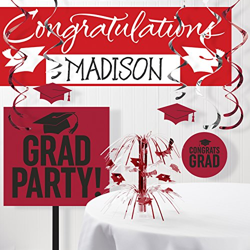 Graduation School Spirit Red Decorations Kit
