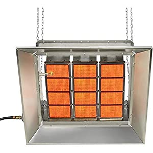 SunStar Heating Products SG4-N Gas Infrared Natural Gas Ceramic Heater 40,000 Btu