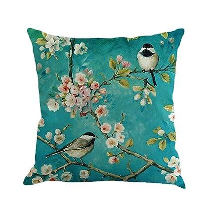 Amazoncom Luxsea Square Linen Cotton Throw Pillow Cases Home