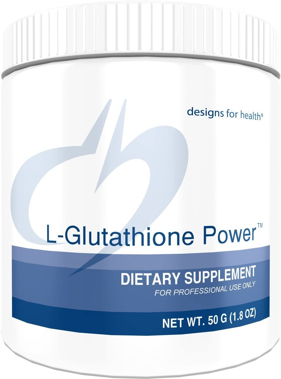 Designs for Health L-Glutathione Powder 1000mg – Reduced L-Glutathione Antioxidant Support 50 Servings 50g