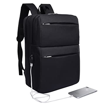 Image Unavailable. Image not available for. Color  Waterproof Travel Laptop  Backpack with USB Charging Port for College Student 5c9458c9f7baa
