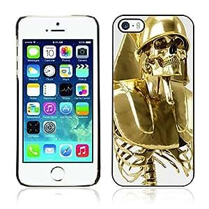 A-type Arte & diseño plástico duro Fundas Cover Cubre Hard Case Cover para Apple iPhone 5 / 5S ( Esquelético de oro Solider )