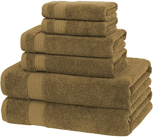 Premium, Luxury Hotel & Spa, Turkish Cotton 6-Piece Towel Set for Maximum Softness and Absorbency by American Veteran Towel (Chocolate Brown) (Halloween Winter Park)