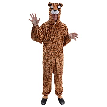 Tiger - Adult Costume Adult - One Size  sc 1 st  Amazon UK & Tiger - Adult Costume Adult - One Size: Amazon.co.uk: Toys u0026 Games