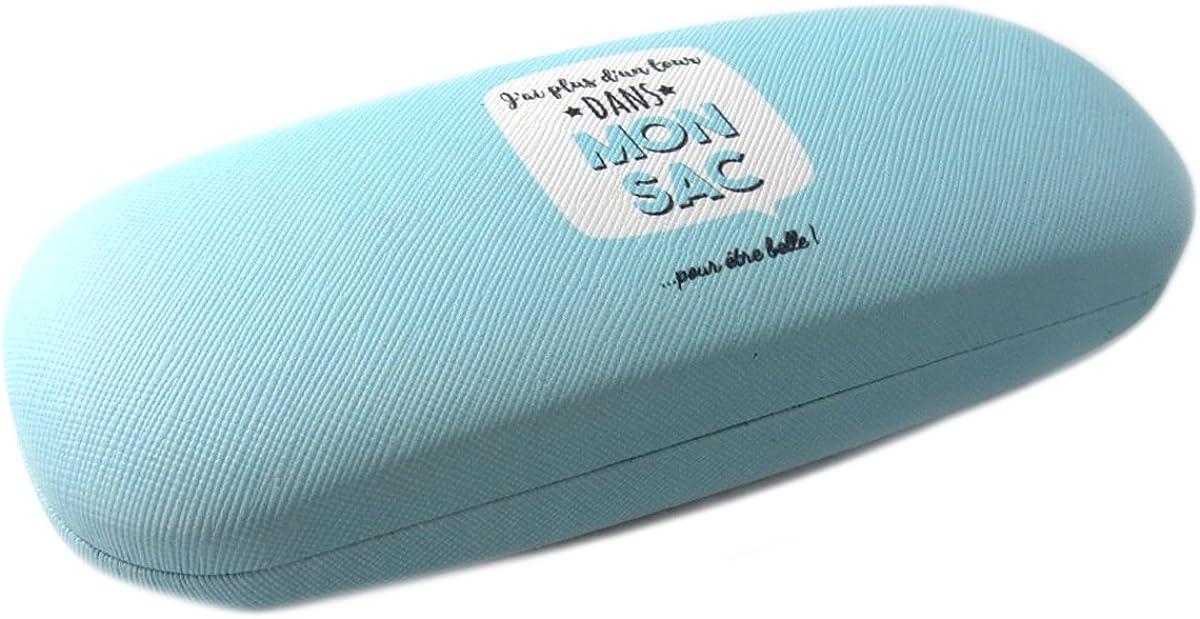 Jai plus dun tour dans mon sac pour /être Belle Boitier de lunettes Messages turquoise Les Tr/ésors De Lily Q0358