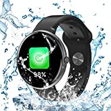 AllCall Smartwatch Waterproof Smart Watch Android IP68 Professional Waterproof All-Day Heart Rate & Activity Tracking Sleep Monitoring GPS 5-Days Battery Life Bluetooth AC01 (Black)