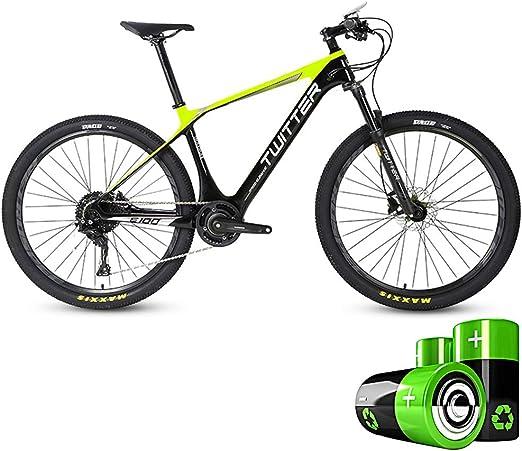 HJHJ Bicicleta de montaña eléctrica Moto de Nieve híbrida 27.5 ...