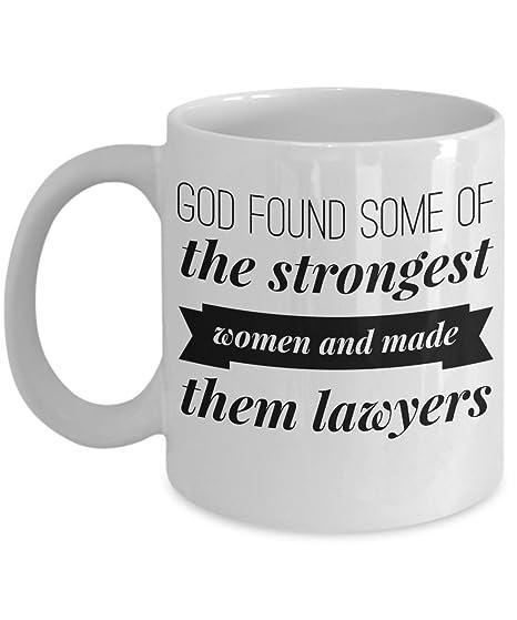 Amazon.com: Abogado Broma – Taza Dios Found algunos de los ...