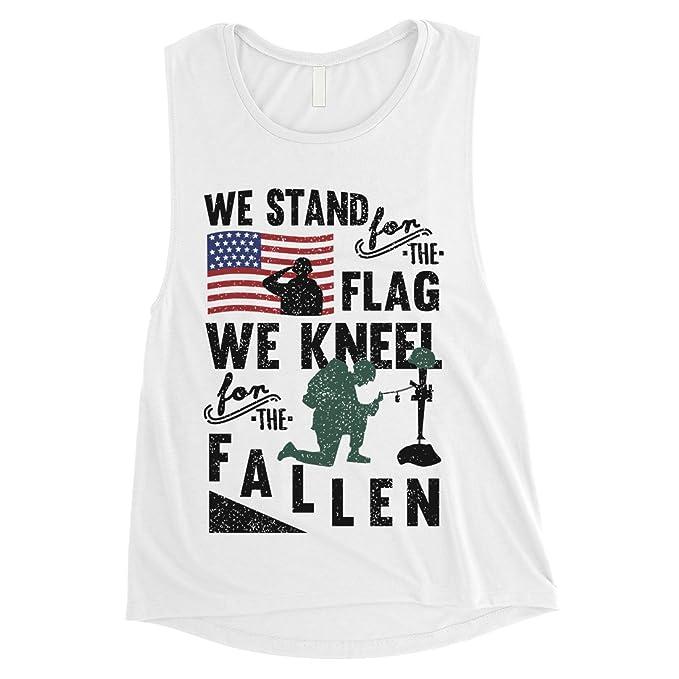 Amazon.com: 365 Printing We Stand We Kneel - Camiseta de ...