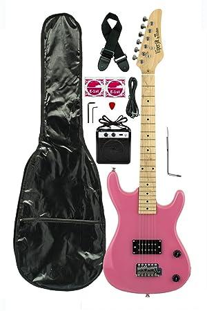 DirectlyCheap(TM) - Guitarra eléctrica 3/4 con trémolo para niños, incluye funda, correa, cable, amplificador y púa media en color azul traslúcido: ...
