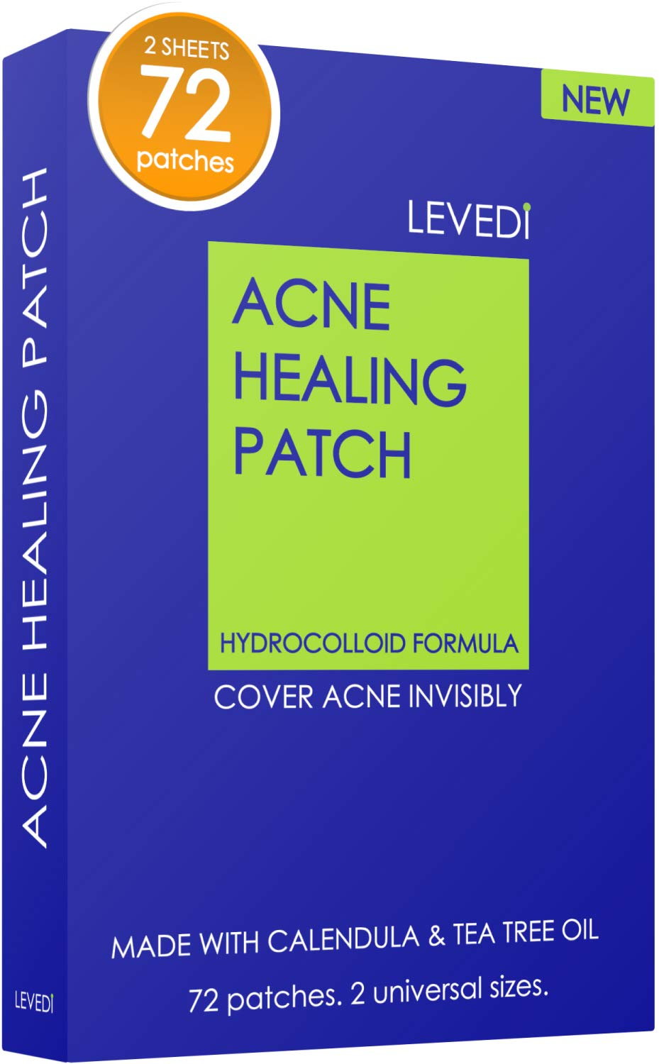 Levedi Acne Patch | Skin Care | Dark Spot Remover for Face | Acne Treatment | 72 Patches Invisible (blue)